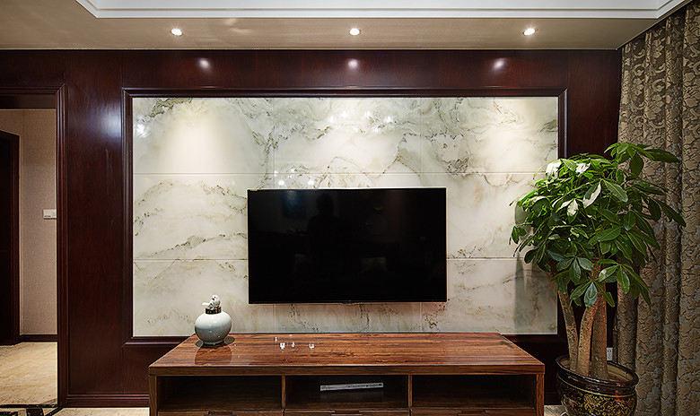 美式新古典大理石背景墙设计