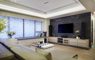 现代家装 客厅大理石电视背景墙设计