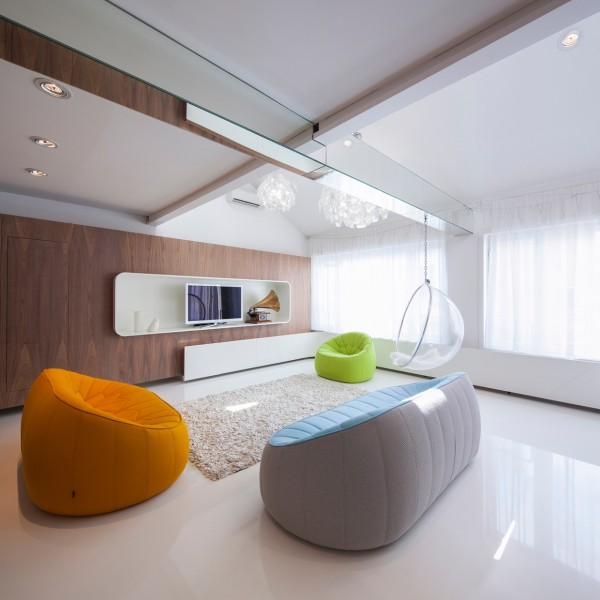 现代简约装修客厅沙发效果图