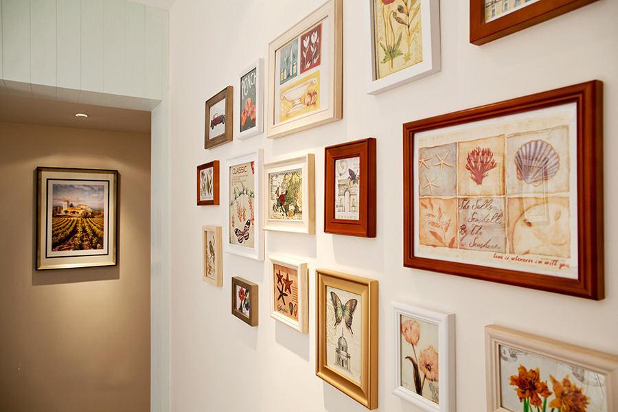 浪漫甜美田园风格相片墙装饰效果图