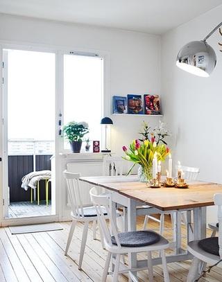 明亮小清新北欧风情单身公寓设计效果图