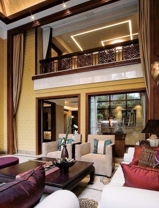 精致古典东南亚风格别墅家居装修效果图