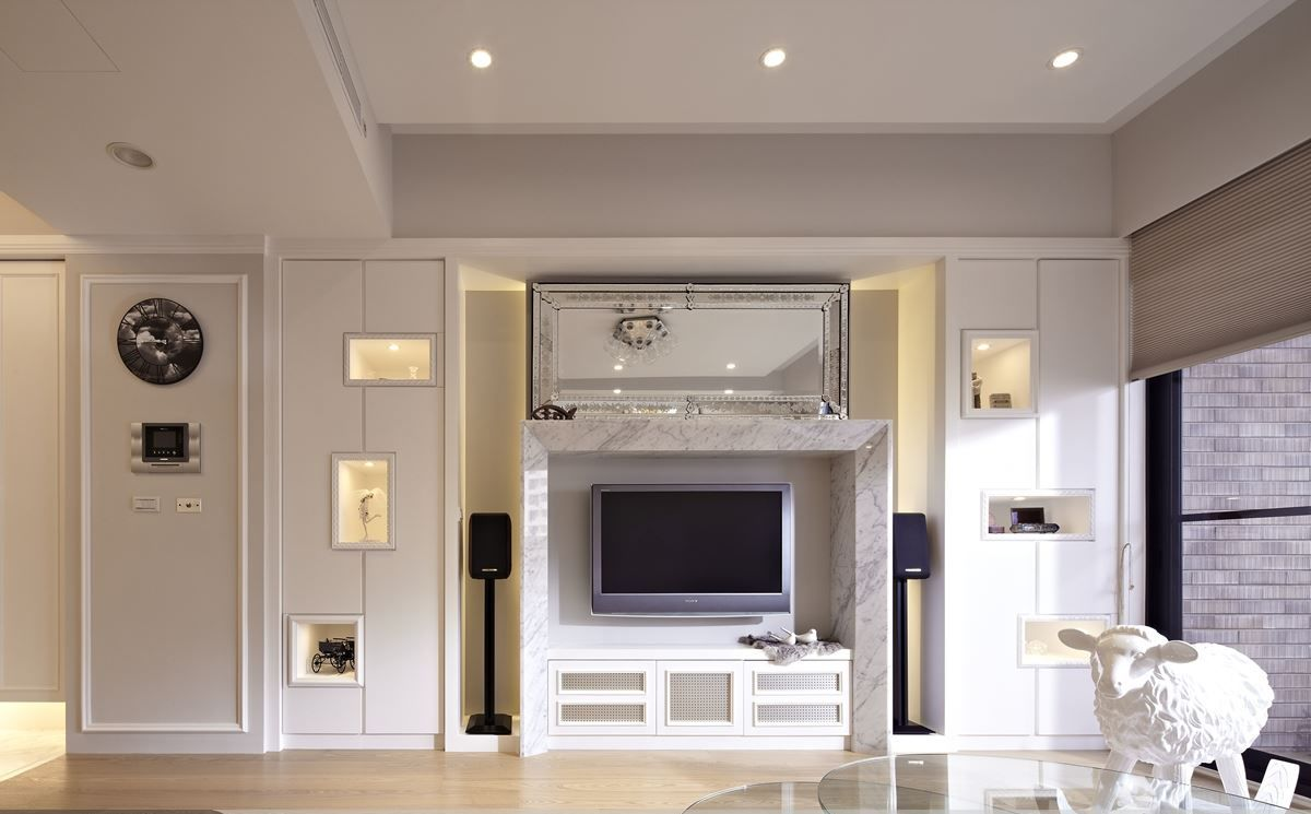 简欧风格电视背景墙设计