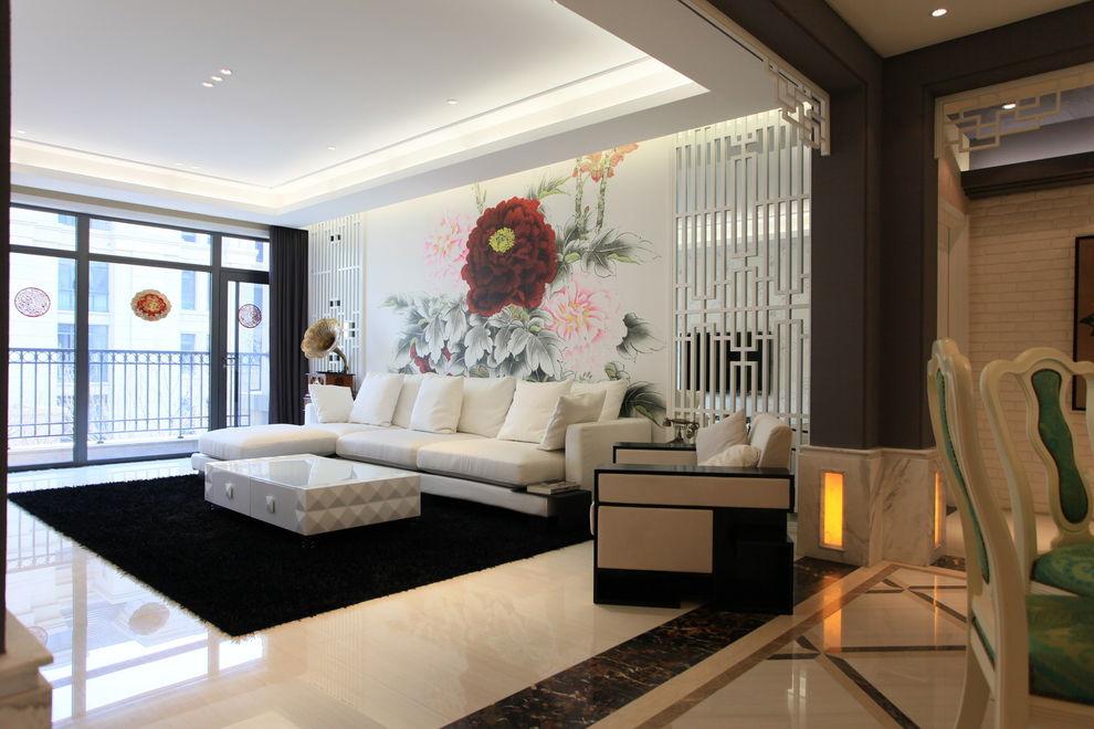 精美靓丽中西混搭家装客厅装饰效果图