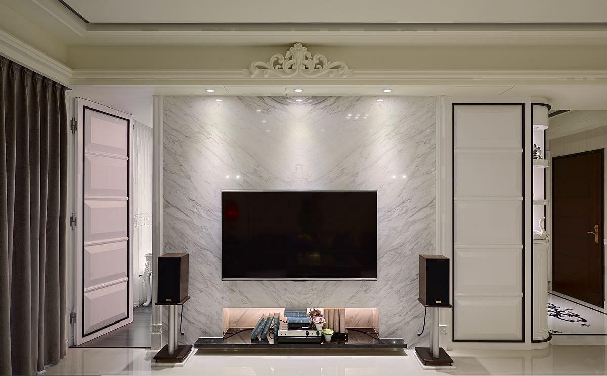 新古典风格大理石背景墙设计