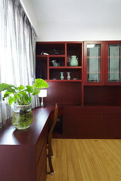 时尚高雅现代装修 书房红木家具欣赏