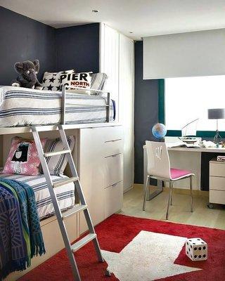 宜家装修儿童房床铺效果图
