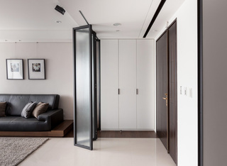 现代玄关客厅折叠门隔断设计