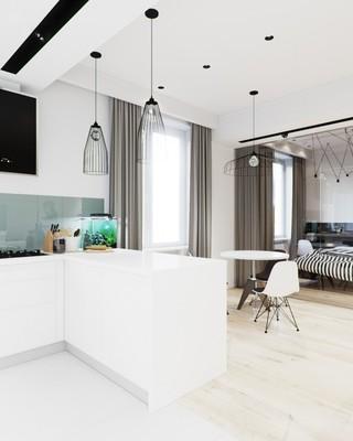 时尚现代黑白极简小户型公寓设计装修图