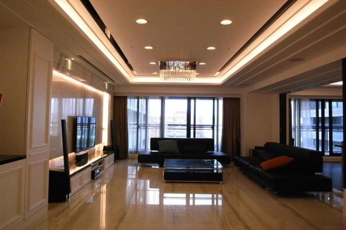 新古典装修客厅吊顶效果图