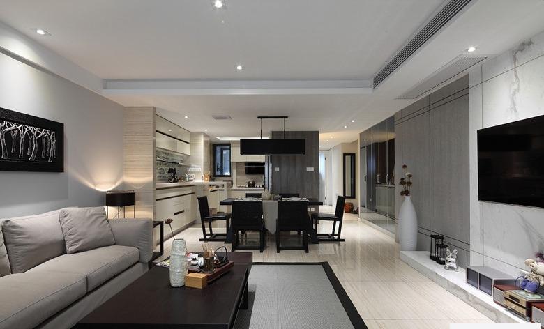 时尚现代三居室内装潢案例