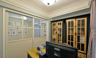 简约北欧风书房折叠门设计
