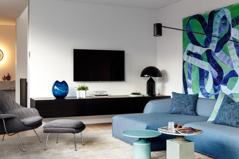 时尚简约北欧风客厅电视柜效果图