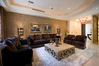 低奢新古典三室两厅装修图