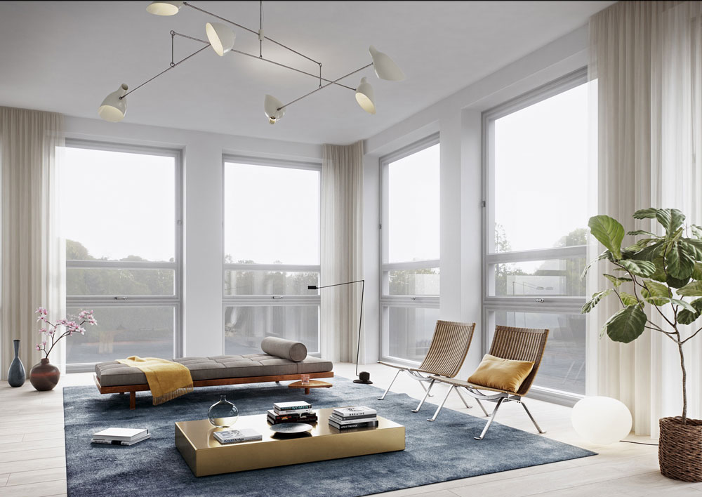 优雅精致北欧风情跃层公寓装潢效果图