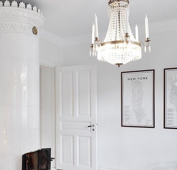 浪漫唯美北欧风公寓水晶吊灯设计