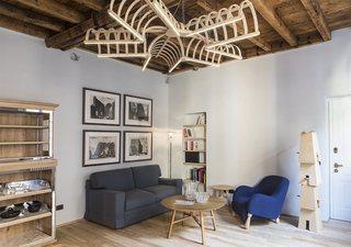 古朴美式混搭装修二居室效果图