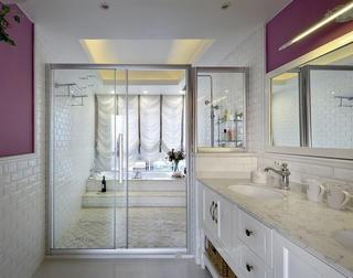 唯美浪漫美式混搭洗手间干湿隔断设计