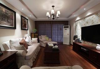 120平美式乡村风格 三居婚房装修图