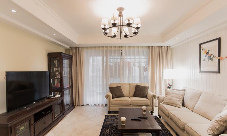 古朴美式客厅家装效果图