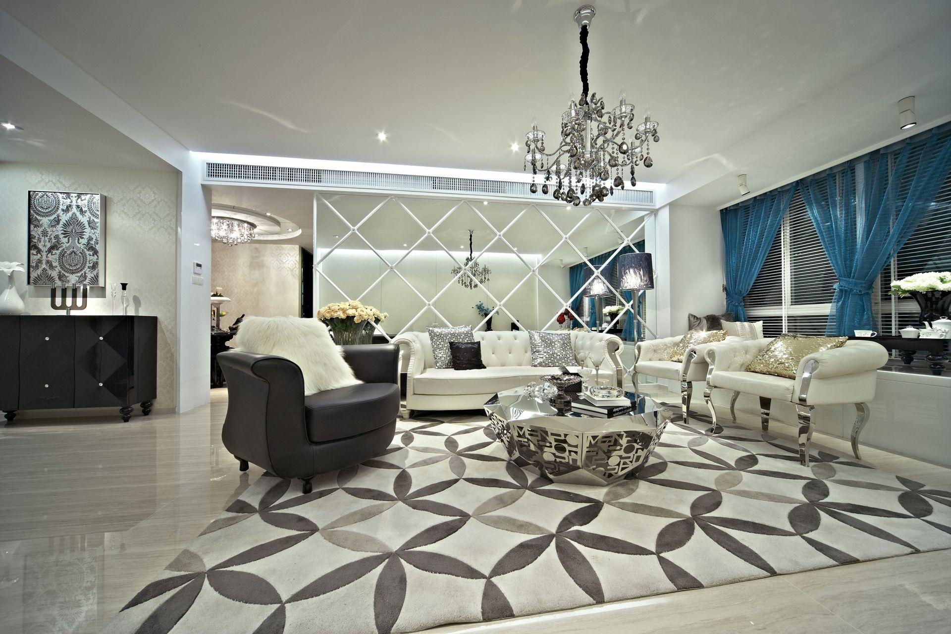 精致现代风格三室两厅装修图