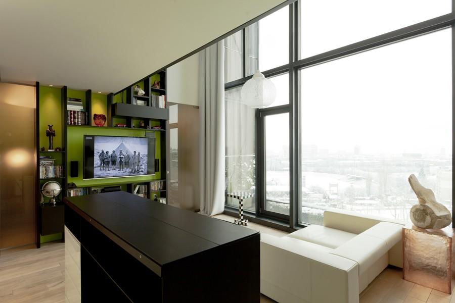 时尚波西米亚风格客厅窗户效果图