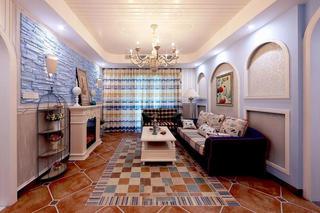 七彩复古地中海东南亚异域风情混搭二居装潢设计