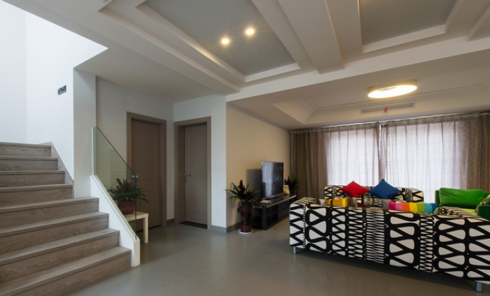 现代简约设计装修复式楼梯效果图