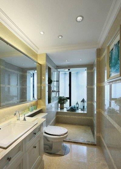 优雅欧式家装卫生间装饰效果图