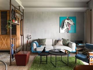 简约复古北欧工业风混搭公寓设计效果图