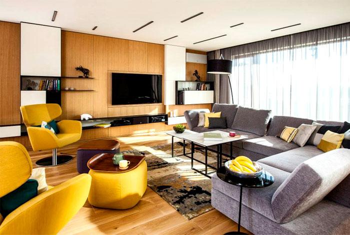 优雅时尚现代客厅家居装饰图