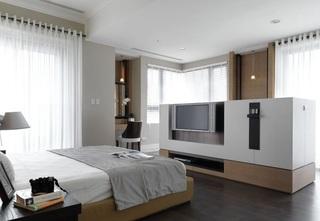 简约时尚卧室电视背景墙设计