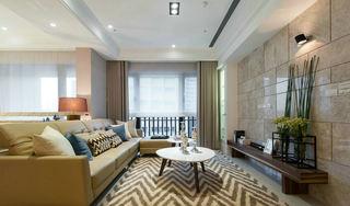 时尚素雅现代波普风混搭三室两厅装潢欣赏