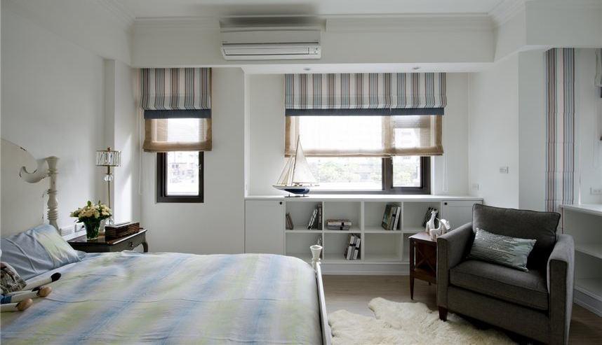 美式风格卧室书柜设计