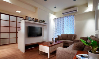80平住宅公寓日式简约装修图