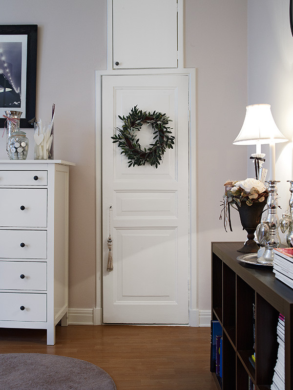 甜美简约北欧风格白色室内门设计