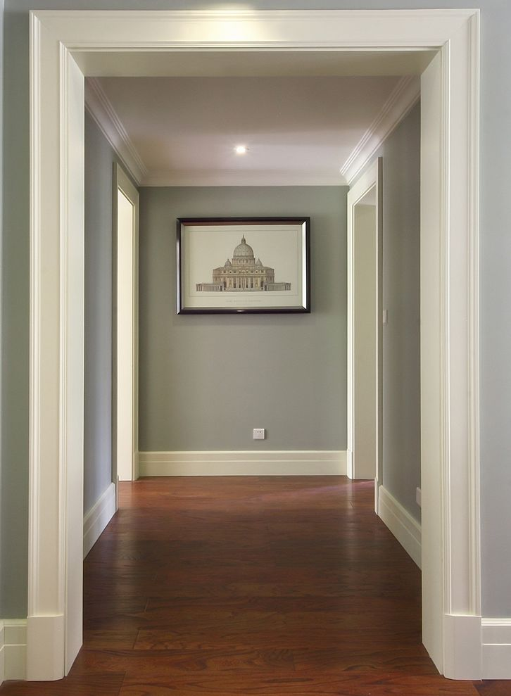 清新简洁复古美式家庭过道设计