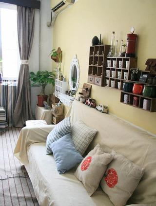 35平温馨宜家田园风小户型单身公寓设计
