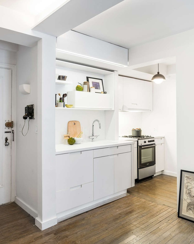 纯白简约现代风厨房设计效果图