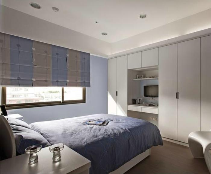 最新日式风格 卧室衣柜书桌设计