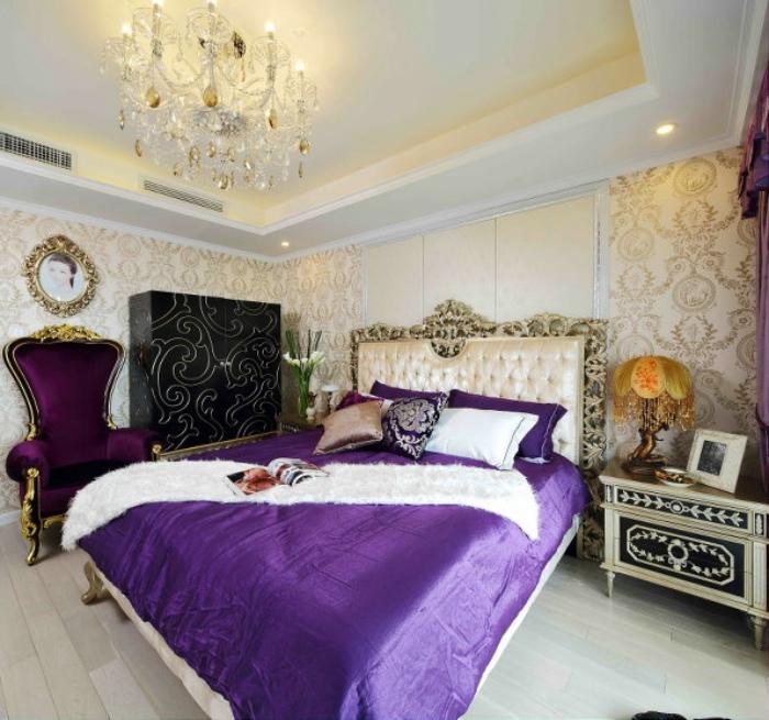 奢华复古欧式卧室效果图欣赏