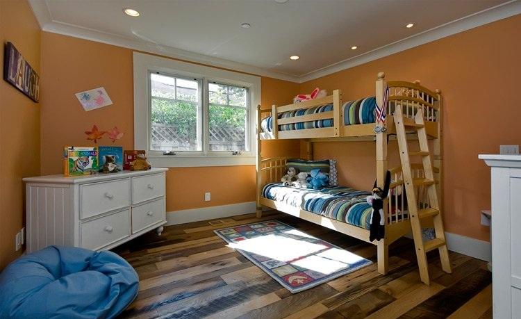 简约甜蜜橙美式儿童房设计大全欣赏