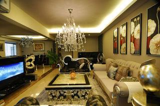 华贵大气稳重新古典装修风格复式家装设计图