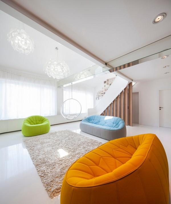 公寓跃层现代简约客厅效果图