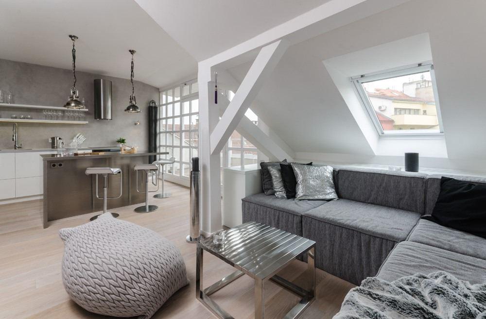 现代创意设计 阁楼一居室家装图片