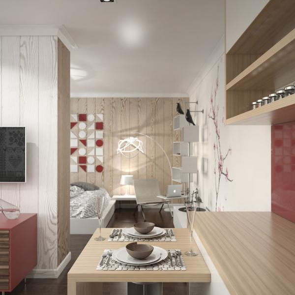 文艺气息现代一居室装修欣赏图