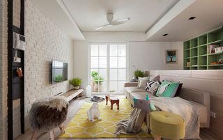 清新多彩文艺范简约公寓装潢设计
