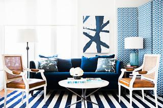 清爽个性创意美式小二居公寓装饰