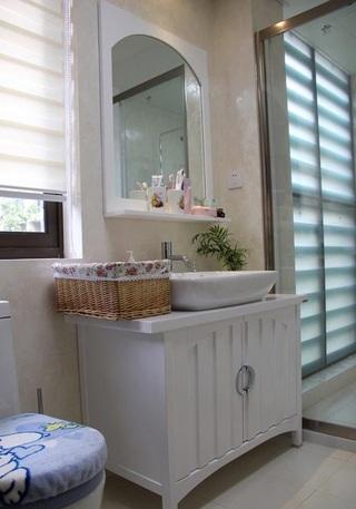 现代简约田园风卫生间洗手台设计