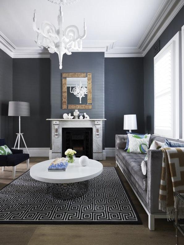摩登黑色系复古北欧风情公寓装潢设计